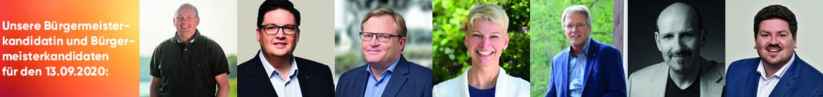 Unsere Bürgermeisterkandidatin und Bürgermeisterkandidaten