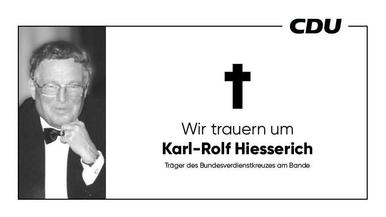 Wir trauern um Karl-Rolf Hiesserich