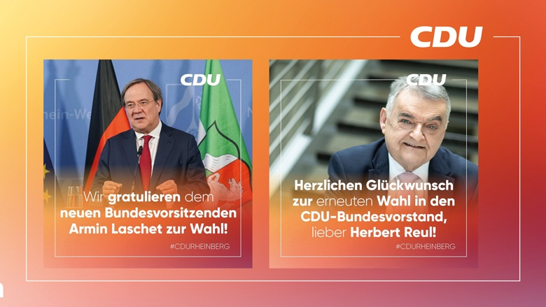 Herzlichen Glückwunsch an Armin Laschet und Herbert Reul