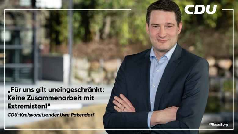 Uwe Pakendorf: Keine Zusammenarbeit mit Extremisten