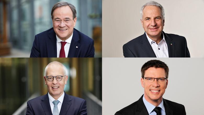 Armin Laschet, Rainer Deppe, Dr. Hermann-Josef Tebroke und Stephan Santelmann