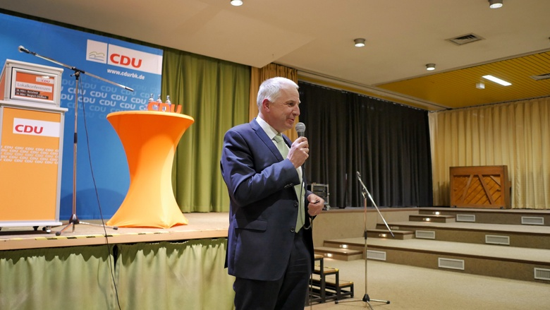 Rainer Deppe bei der Lokalkonferenz in Burscheid