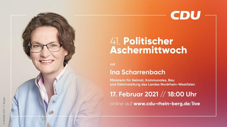 41. Politischer Aschermittwoch mit Ina Scharrenbach