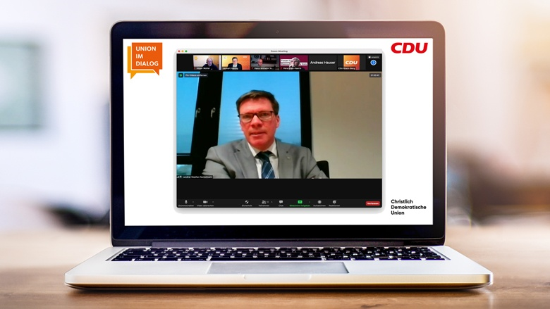 Union im Dialog mit Landrat Stephan Santelmann
