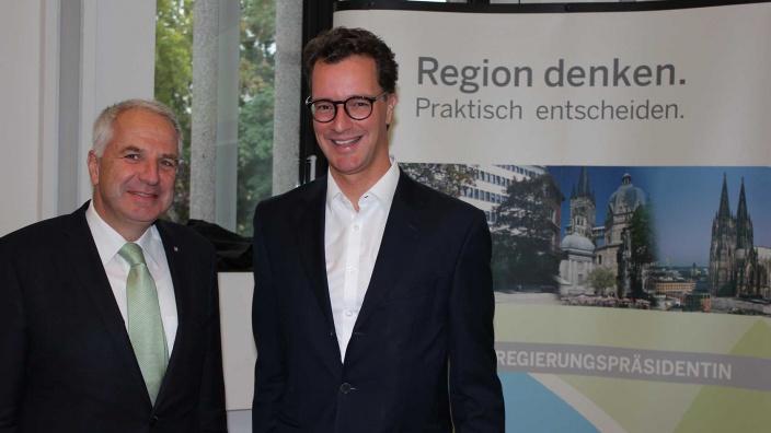 Rainer Deppe und Hendrik Wüst