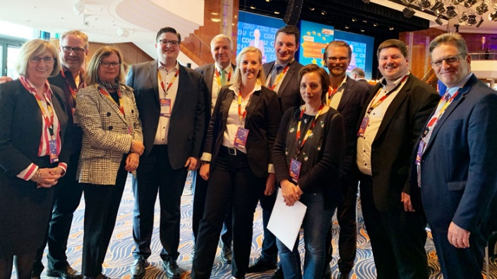 Die Delegierten der CDU Rhein-Berg beim 42. Landesparteitag