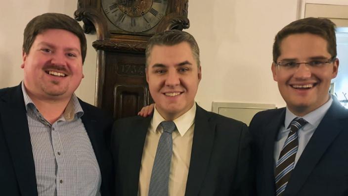Maurice Winter, Stefan Leßenich und Dr. Christian Klicki