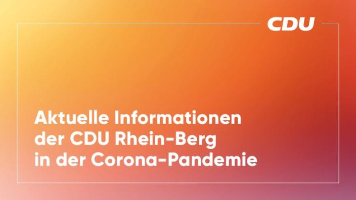 Aktuelle Infos in der Corona-Pandemie