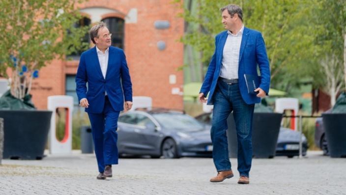 Armin Laschet und Markus Söder // Foto: CDU/Steffen Böttcher