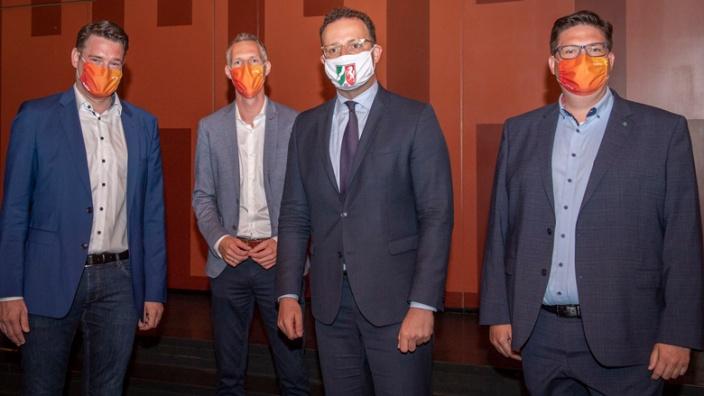 Uwe Pakendorf, Thomas Hartmann, Jens Spahn und Christian Buchen