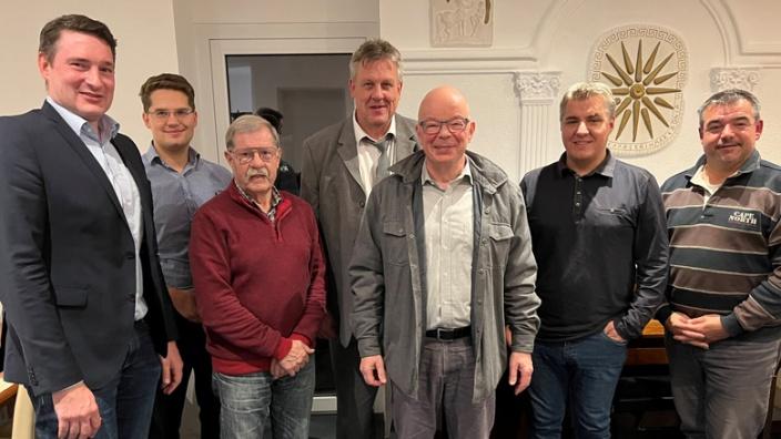 Der neue CDA-Vorstand mit CDU-Kreisvorsitzendem Uwe Pakendorf