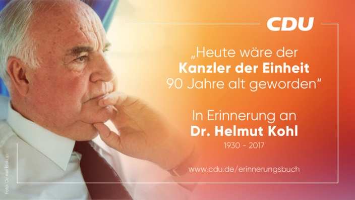In Erinnerung an Dr. Helmut Kohl