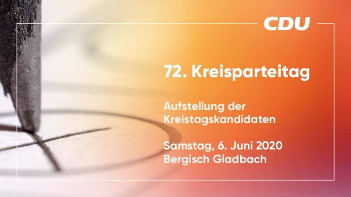 72. Kreisparteitag //Aufstellung Kreistag /6. Juni 2020
